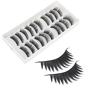 10 Pairs Long Thick False Eyelashes H-2