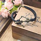 The bow and arrow Vintage Bracelets*1pc (Black)