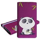 Pochette stilbag 'Mika' pour Motorola Moto E 2nd Gen-Design?: Panda en bambou