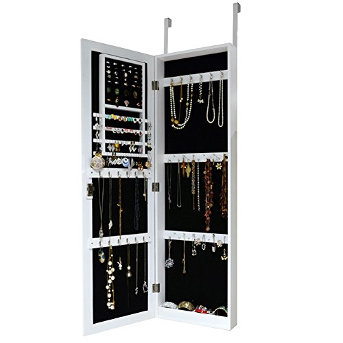 wall mount jewelry armoire wooden over the door cabinet with lock bedroom chest cosmetic. Black Bedroom Furniture Sets. Home Design Ideas