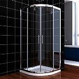 Viertelkreis Duschkabine 90x90 Duschabtrennung mit Rahmen Runddusche Schiebetür Dusche Duschwand