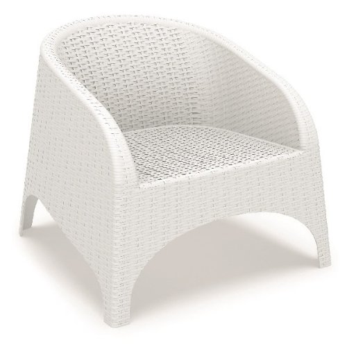 Siesta Aruba Stackable Lounge Chair [Set of 2] Finish: White image