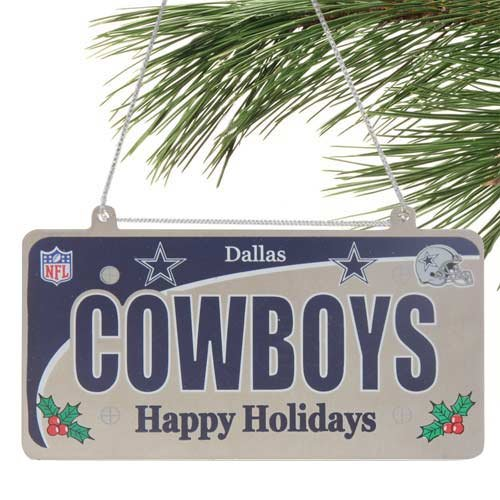 Dallas Cowboys NFL License Plate Christmas Ornament at Amazon.com