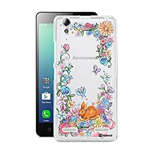 Customizable Hamee Original Designer Cover Thin Fit Crystal Clear Plastic Hard Back Case for Lenovo A6000 Plus / Lenovo A6000 (Rabbit/Graden)