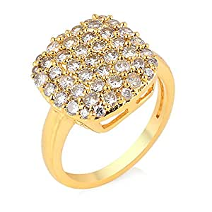 buy r s jewels gold plated cz simple design ring for