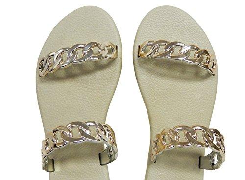 Beaute Fashion Chain Women's Comfort Flip Flop Slide Sandal #1