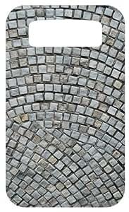 Stone Tile Pattern White Back Cover Case for Blackberry Bold 9700