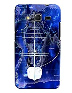 Omnam White Ship On Sea Painted Printed Designer Back Cover Case For Samsung Galaxy Core Prime