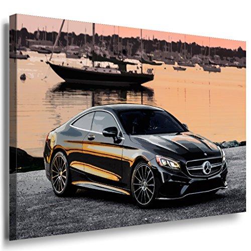 mercedes-benz-s-class-s550-amg-leinwandbild-laraart-bilder-mehrfarbig-wandbild-100-x-70-cm