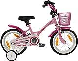 PROMETHEUS Kinderfahrrad 14 Zoll Mädchen Kinderrad in Farbe Rosa Lila