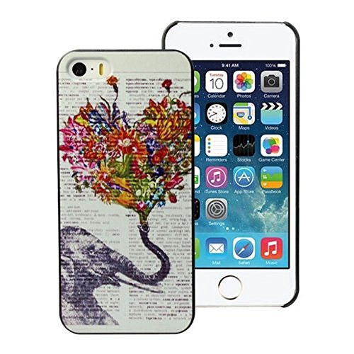 Evermarket(Tm) Snap On Hard Back Case Cover For Apple Iphone 5 5S - Elephant