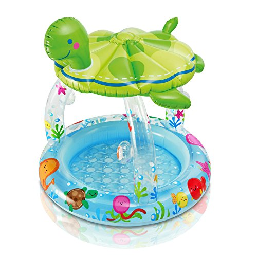 Intex Sea Turtle Shade Inflatable Baby Pool, 40
