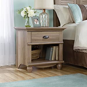 Harbor view night stand salt oak bedroom for Oak harbor furniture