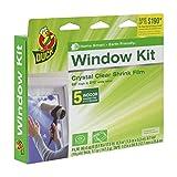 Duck Brand 281504 Indoor 5-Window Shrink Film Kit, 62-Inch x 210-Inch