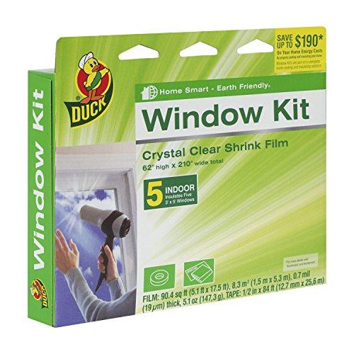 Duck Brand 281504 Indoor 5-Window Shrink Film Kit, 62-Inch x 210-Inch (Window Winter Insulation Kit compare prices)