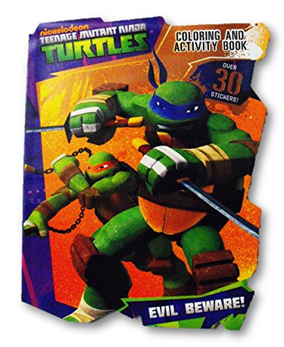 Nickelodeon Teenage Mutant Ninja Turtles Coloring & Activity Book with Bonus Over 30 Stickers ~ 64 Pgs. - 1