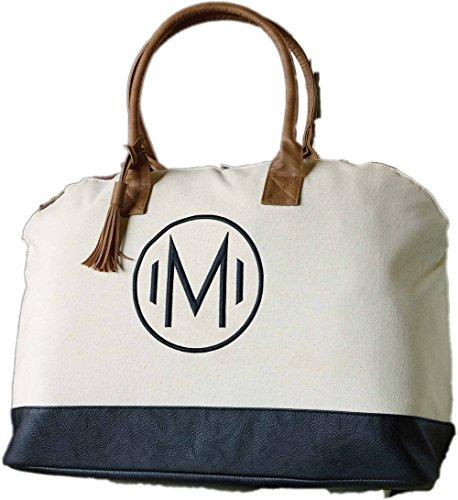 Mud Pie Chelsea Initial Weekender Bag (T) (Mud Pie Weekender Bag compare prices)