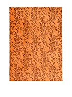 CarpeTrade Alfombra Soft Silk Nepal (Naranja/Marrón)