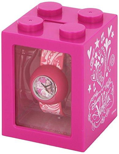 Euroswan Violetta Disney Box 3 in 1: Orologio, salvadanaio e portafoto Idea Regalo