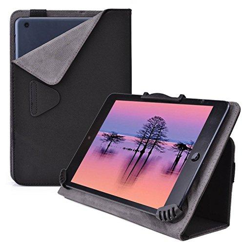 Cooper Cases (TM) Infinite Cam Universelle Foliohülle für Lenovo IdeaTab S5000 / LePad S2007 / Miix 2 8 in Schwarz (universelle Passform, integrierte Standfunktion, elastisches Band als Hüllenverschluss)