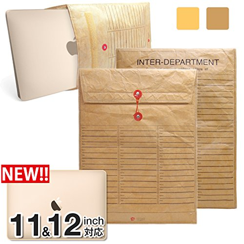 iNTAG MacBook 12インチ / 11インチ用 封筒 スリーブ ケース for MacBook 12インチ /Air 11.6インチ ブラウン iN-ENV11JOBS-BR