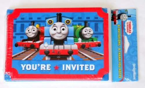 Thomas & Friends Invitations and Thank You Postcards
