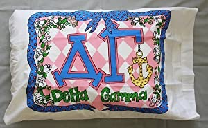 Bunnies and Bows - Delta Gamma - Personalized Pillowcase