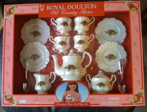 Old Country Roses Tea Set 17 Pc. Child'S Play Set Plastic