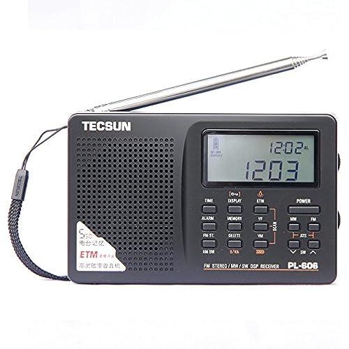 XHDATA ®TECSUN PL-606디지탈PLL 포터블 라디오FM 스테레오/LW/SW/MW DSP리시버 PL606-