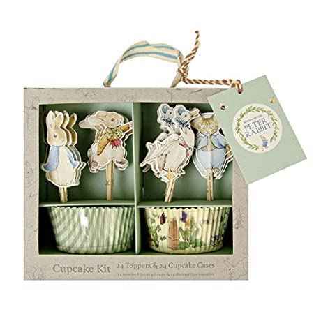 Join Peter Rabbit and friends for cupcake fun with this fabulous cupcake kit. Featuring delightful character toppers using Beatrix Potter&#39s illustrations and with two designs of cupcake case. The kit comes in a natural finish presentation box with...