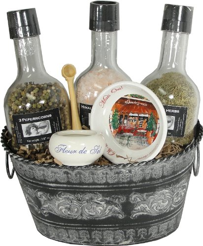 Spice and Salt Grinders Gourmet Gift Basket With