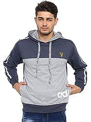 Showoff Men's Full Sleeves Solid Grey Casual Sweatshirt