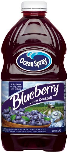 Ocean Spray Blueberry Juice Cocktail, 64-Ounce Cans (Pack of 8)