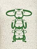 Campus-Sutra-Off-White-Women-Round-Neck-Quarter-Sleeve-T-Shirt-Three-Monkey