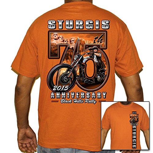 Biker Life USA Men's 2015 Sturgis 75th Rusmore Scene T-Shirt