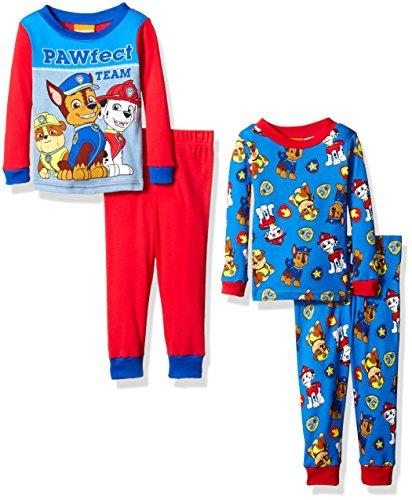 Nickelodeon Boys' Paw Patrol Toddler 4-Piece Pajama Set