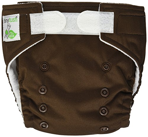 Tiny Tush Elite Mini Pocket Diapers, Aplix Chocolate - 1