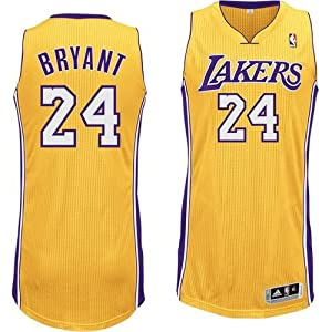 NBA Los Angeles Lakers Gold Authentic Jersey Kobe Bryant #24, XX-Large