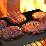 BBQ Grill Mats Set of 3 Non Stick BBQ Grill Mats by Magic Grill for Baking or Charcoal Gas or Electric Grills Reusable Dishwasher Safe