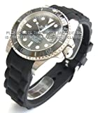 20mm High grade silicon 'soft touch' rubber oyster pattern Fits Rolex Submariner and GMT
