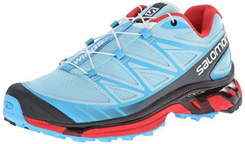 Salomon Women's Wings Pro Terrain Trail Running Shoe, Air/Blue Line/Papaya, 8.5 M US (Womens Cycling Salomon compare prices)