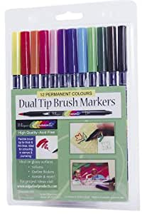 Darice 29007 Whispers Permanents 12 Marker Dual Tip