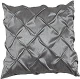 Urban Loft by Westex Pintuck Cushion, 20 by 20-Inch, Charcoal