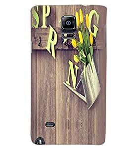 SAMSUNG GALAXY NOTE 4 SPRING Back Cover by PRINTSWAG