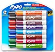 Expo 2 Low-Odor Dry Erase Markers, Chisel Tip, 16-Pack, Assorted Colors (81045)