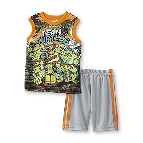 Teenage Mutant Ninja Turtles Toddler Boys Graphic Tank & Shorts Set (3T)