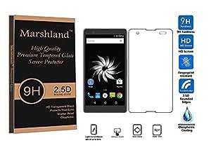 Marshland® YU YUREKA NOTE Premium Tempered Glass Screen Protector 2.5D Round Edge, 0.33mm Thickness, 9H Hardness, Anti Glare, Anti Explosion, Anti Scratch, Bubble-free, Oleo phobic Coating.