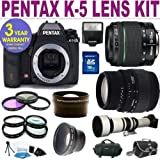 51MxGQ%2BMLPL. SL160  Brand New Pentax K 5 Digital Camera w/ 18 55 WR Lens & Sigma 70 300 Lens + 9 Lens Accessory Kit