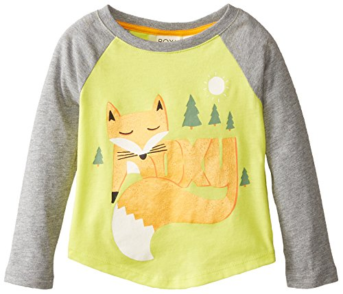 Roxy Little Girls' Foxtails Raglan, Limade, 2