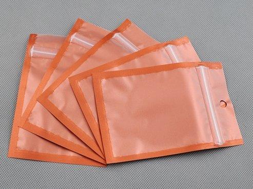 100-pcs-orange-metallic-foil-zip-lock-bags-85cm-x-13cm-33-x-5-with-hang-hole-by-qq-accessory